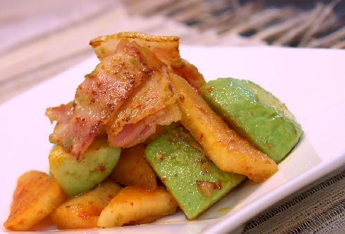 アボカドのキムチ炒めレシピ