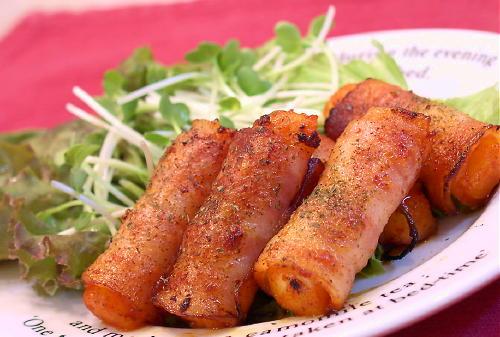 大根キムチのベーコン巻きレシピ