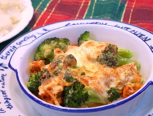 ブロッコリーとキムチのオーロラソースチーズ焼きレシピ