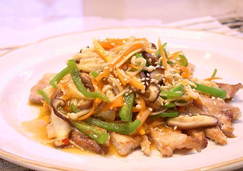 豚肉のピリ辛野菜あんかけレシピ