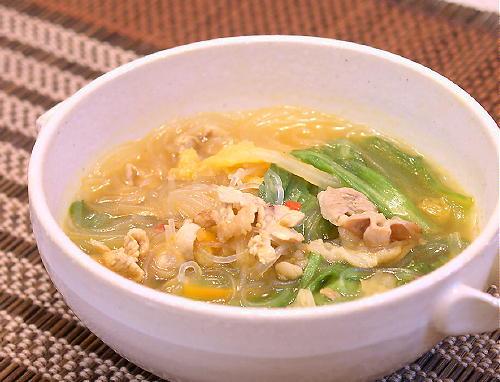 豚肉と春雨のキムチスープレシピ