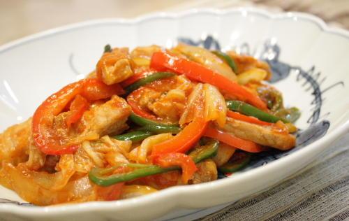豚肉とキムチのケチャップ炒めレシピ