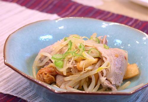豚肉ともやしとキムチのポン酢和えレシピ