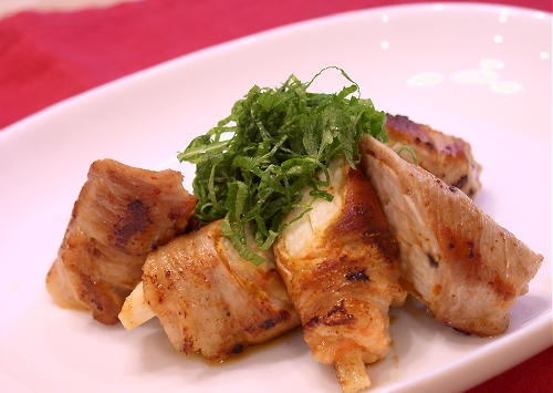 長いもとキムチの豚肉巻きレシピ
