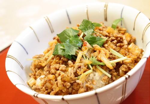 豚ひき肉キムチ丼レシピ