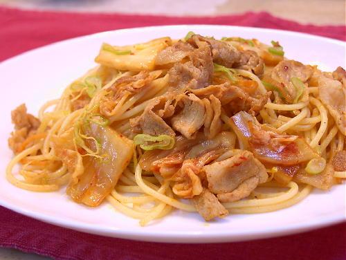 豚キムチパスタレシピ