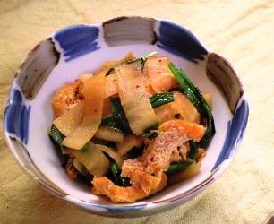 大根のキムチ炒めレシピ