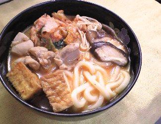 味噌キムチうどんレシピ