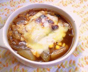 ピリ辛もちーずスープグラタンレシピ