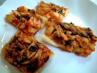 餅とキムチの南蛮風焼きレシピ