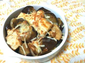 今日のキムチ料理レシピ:なすと厚揚げのピリッとチーズ焼き