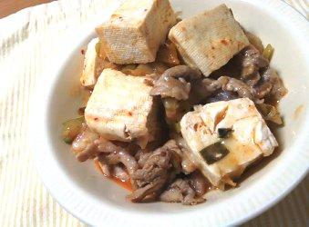 今日のキムチ料理レシピ:まろやかキムチ肉豆腐