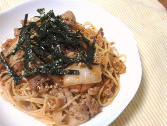今日のキムチ料理レシピ:キムチdeペペロンチーノ