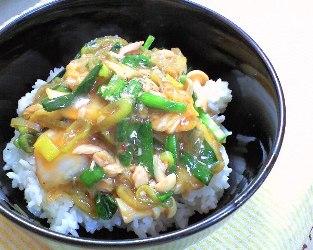 キムチとツナのあんかけ丼レシピ