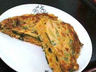 今日のキムチ料理レシピ:ツナのもっちりにらチヂミ