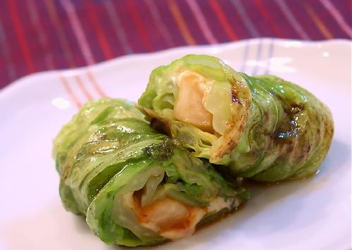 大根キムチのキャベツロール焼きレシピ