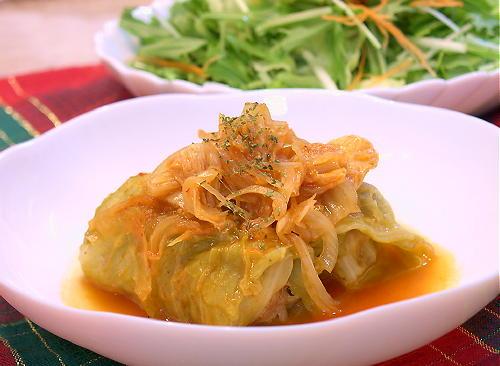 キムチ風味のロールキャベツレシピ