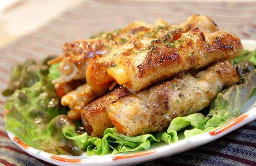 大根キムチとセロリの豚肉巻きレシピ