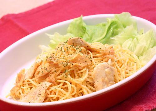 鶏肉とキムチのサラダスパゲティレシピ