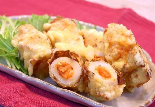 キムチ・チーズ入り竹輪の天ぷらレシピ