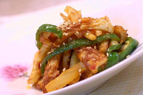 ちくわとキムチのマヨネーズ炒めレシピ