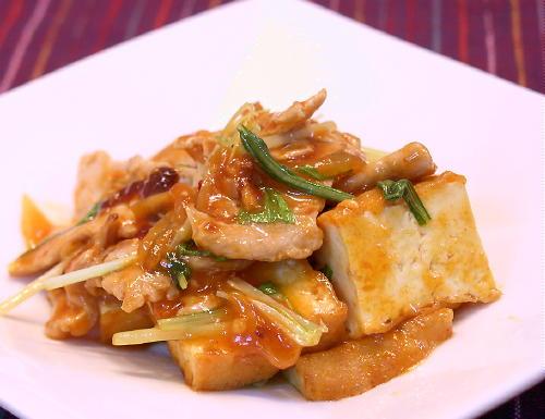 厚揚げと豚肉のピリ辛炒めレシピ