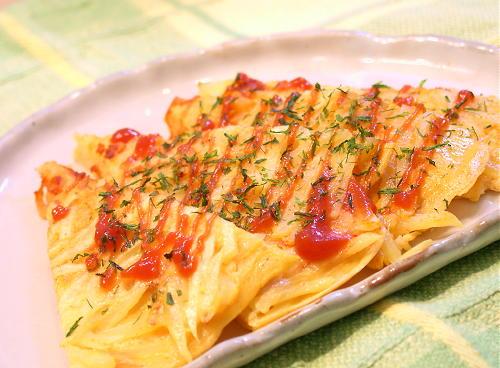 ちぢみ風卵焼きレシピ