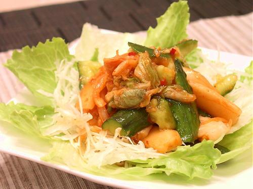 きゅうりとキムチのサラダレシピ