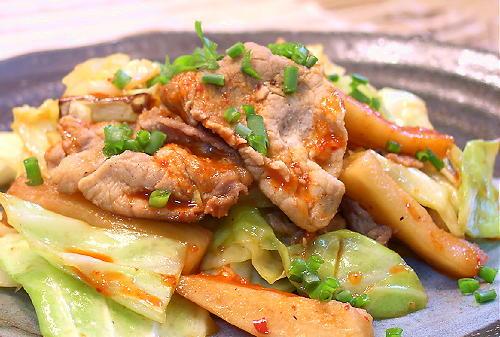 大根キムチと豚キャベツの炒めものレシピ