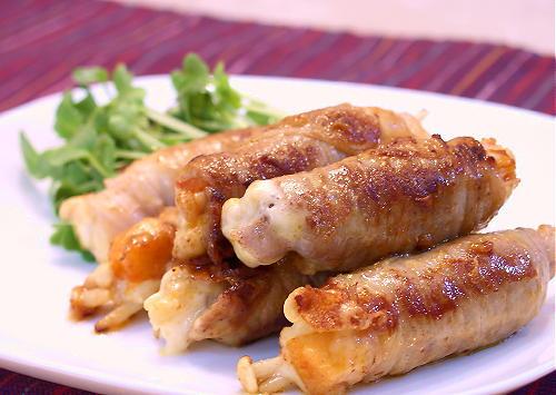 大根キムチとチーズの豚肉巻きレシピ