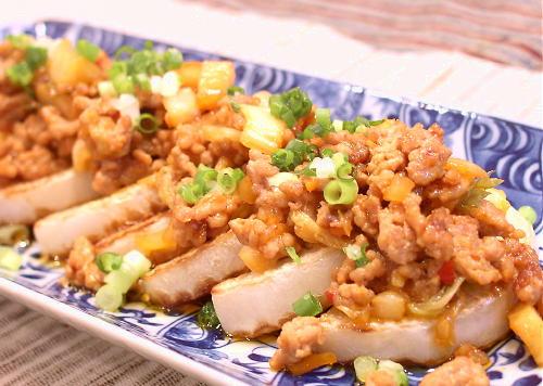焼き大根のキムチひき肉あんかけレシピ