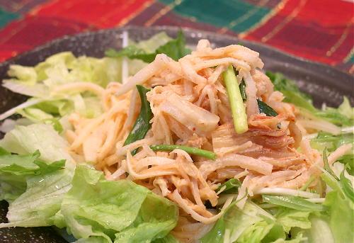 大根とホタテ貝柱のキムチサラダレシピ