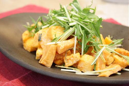 大根キムチと揚げ長いものサラダレシピ