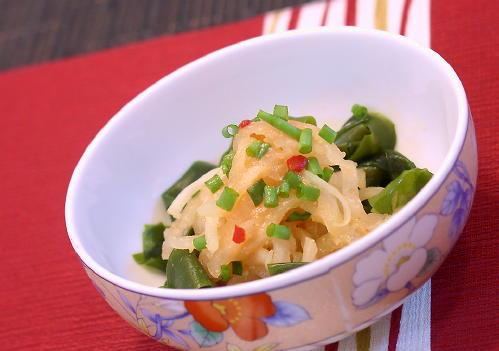 大根のピリ辛酢味噌和えレシピ
