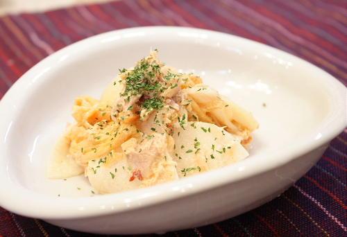 今日のキムチ料理レシピ:大根とツナのキムチサラダ