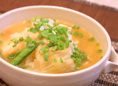 大根と桜海老のキムチ雑炊レシピ