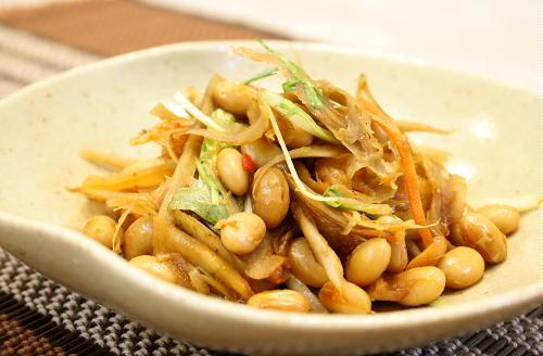 大豆とごぼうのキムチ煮レシピ