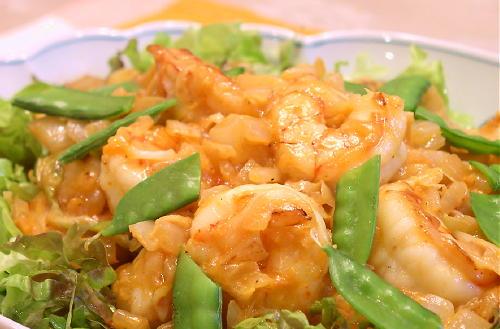 海老とキムチのマヨネーズ炒めレシピ