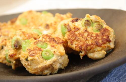 今日のキムチ料理:枝豆キムチつくね