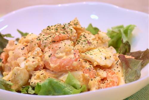 卵と海老のキムチサラダレシピ