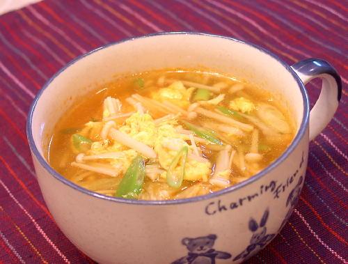 えのきとキムチの卵スープレシピ