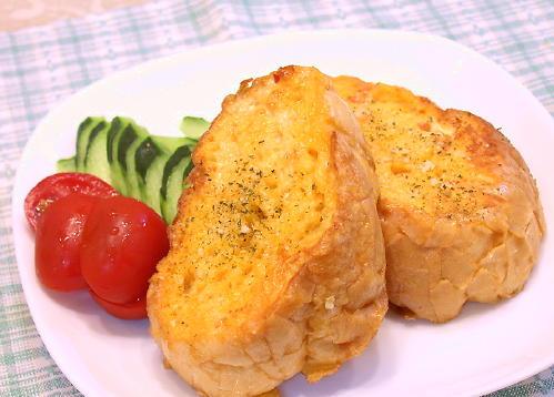 フレンチトースト風ガーリックトーストレシピ