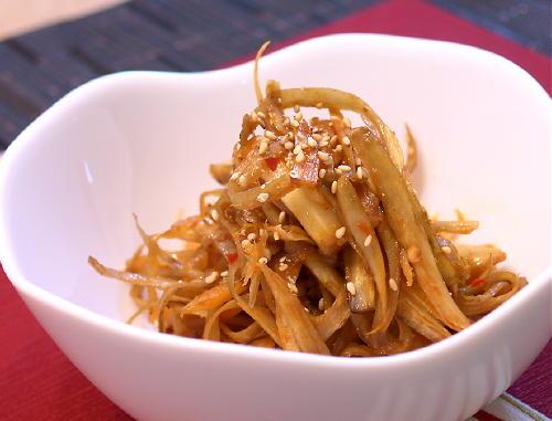 ごぼうとキムチの甘辛煮レシピ