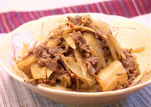 牛肉・ごぼう・キムチの煮物レシピ