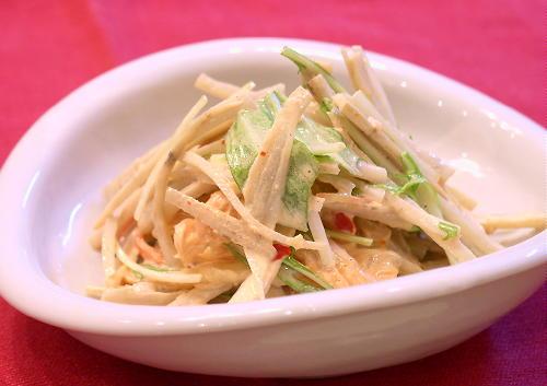 ごぼうキムチサラダレシピ