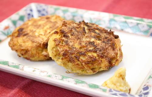 今日のキムチ料理レシピ:豆腐入りキムチごぼう天