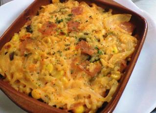 ご飯とキムチのキッシュ風レシピ