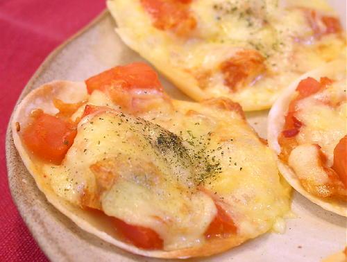 トマトとキムチのギョウザチーズ焼きレシピ