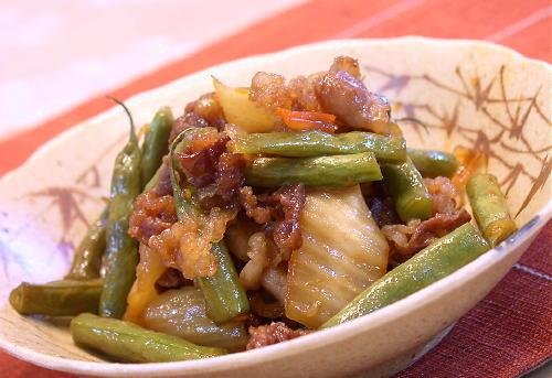 牛肉とインゲンのキムチ甘辛煮レシピ