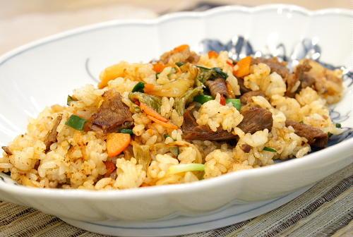 牛肉とキムチのチャーハンレシピ
